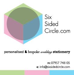 Six Sided Circle Customised Wedding Invitations